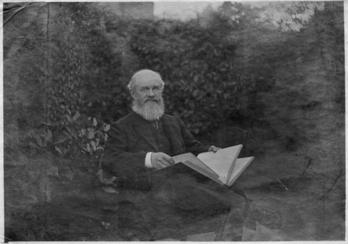 Charles Grover in the garden at Rousdon c. 1907